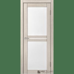 Доминика 602. Цвет: лиственница кремовая, стекло: лакомат/лакобель белый