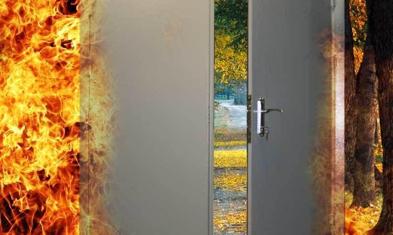 Чем отличается противопожарная дверь от обычной металлической?