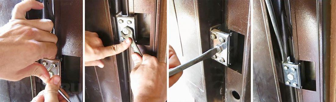 Регулировка входных металлических дверей